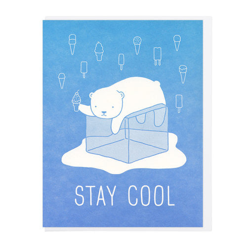 Stay Cool Bear Card Lucky Horse Press