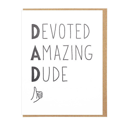 Devoted Amazing Dude Card