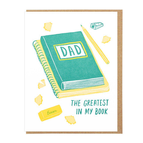 greatest dad in my book card lucky horse press