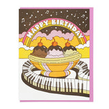 Musical Banana Split Card