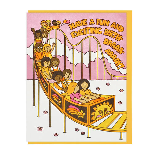 Fun and Exciting Birthday Roller Coaster Card