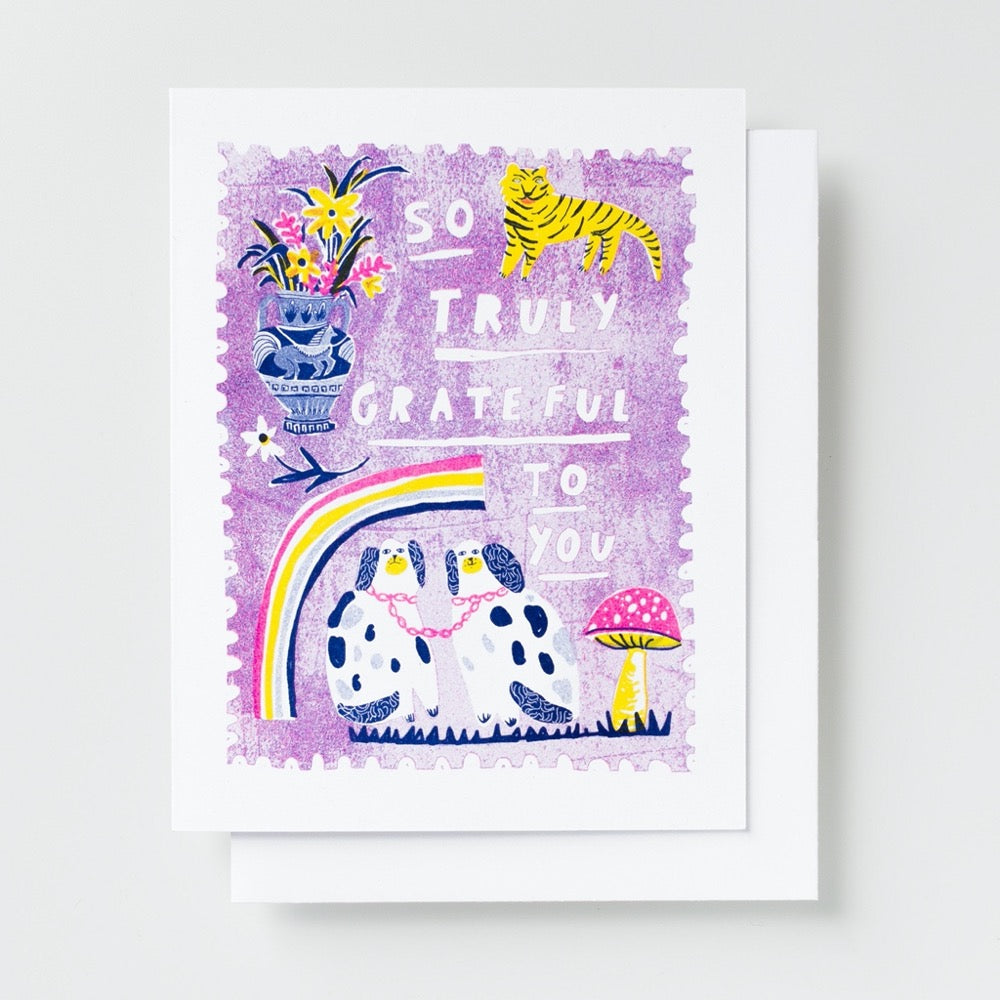 So Truly Grateful Risograph Card