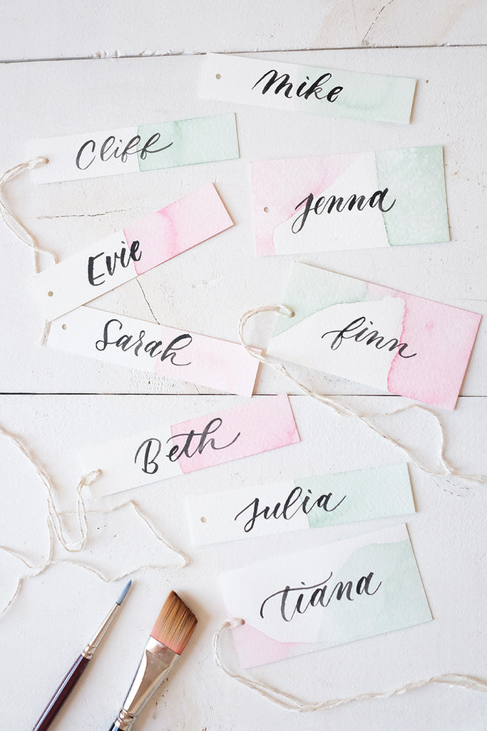Watercolor Brush Lettering