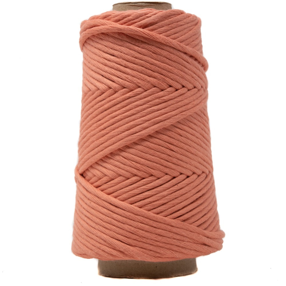 Soft Cotton Macrame Cord 4 mm - Coral