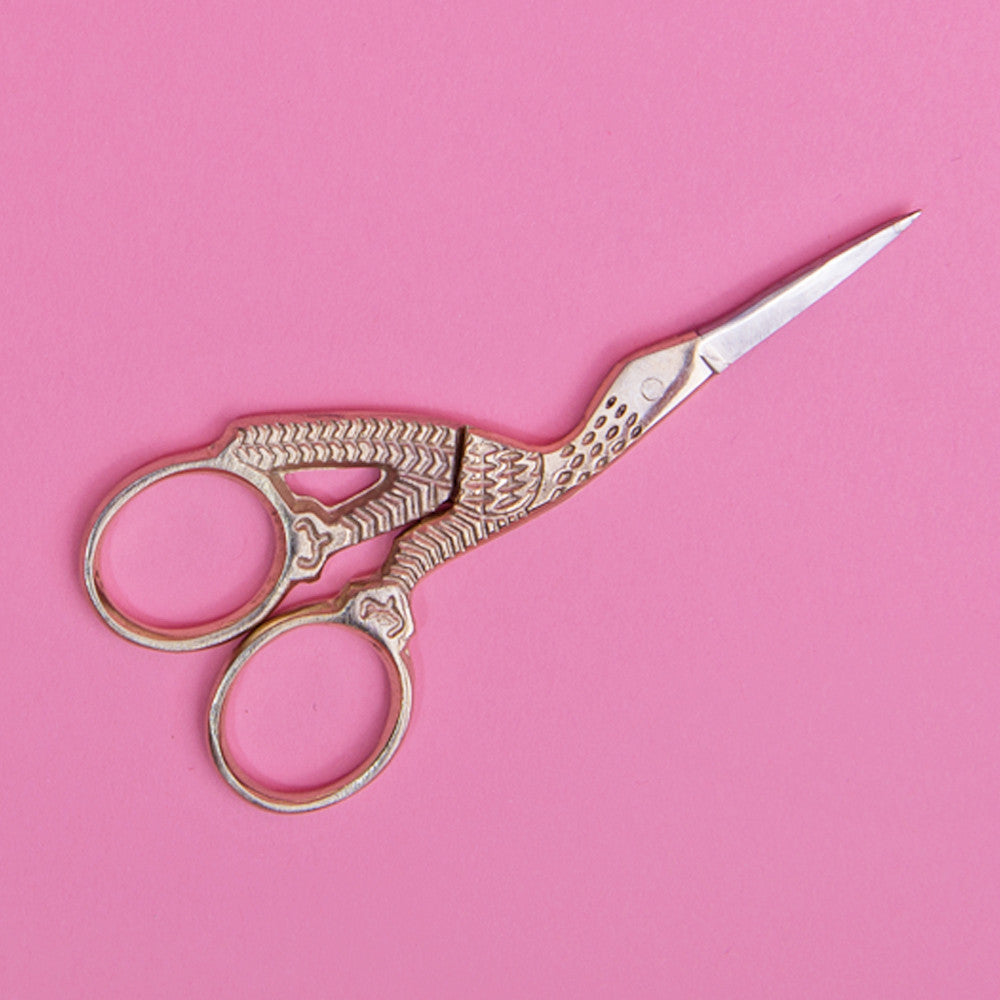 Stork Embroidery Scissors 3.5""