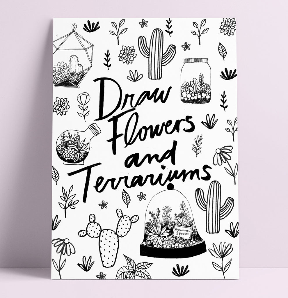 Draw Flowers + Terrariums Workshop