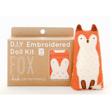 DIY Embroidered Doll Kit - Fox