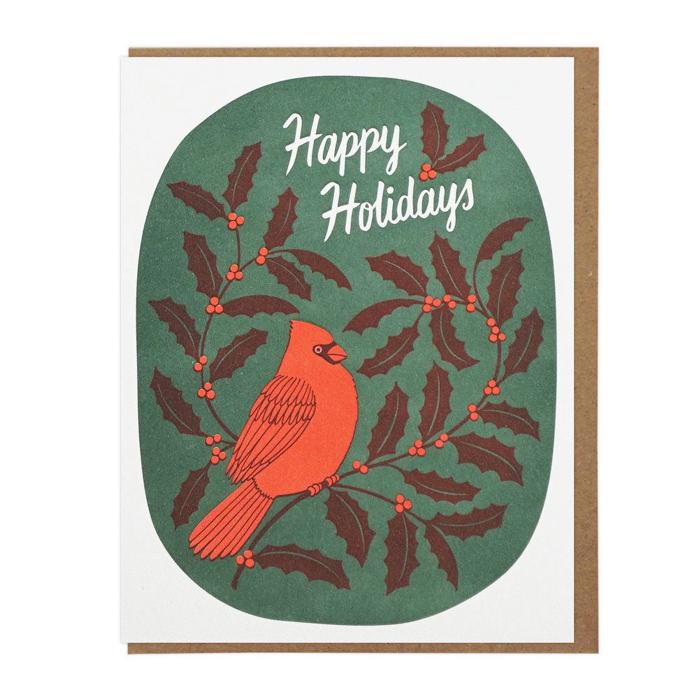 Happy Holidays Cardinal - Set of 6 Cards