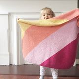 FREE! Fruit Stripe Baby Blanket Knitting Pattern