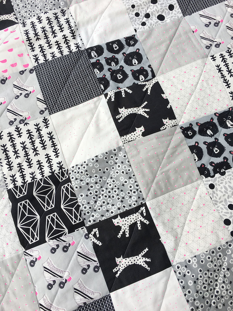 and folkfiber cutout quilt black bandw products white folk fibers