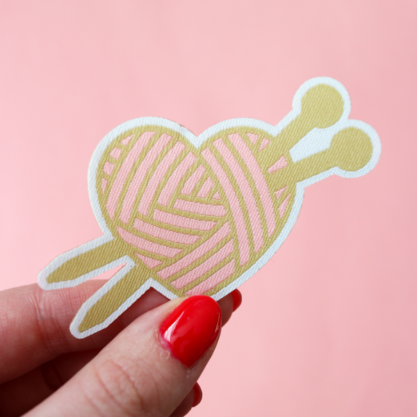 Knitting Love Patch