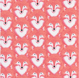 Magic Forest Foxes by Cotton + Steel in Coral