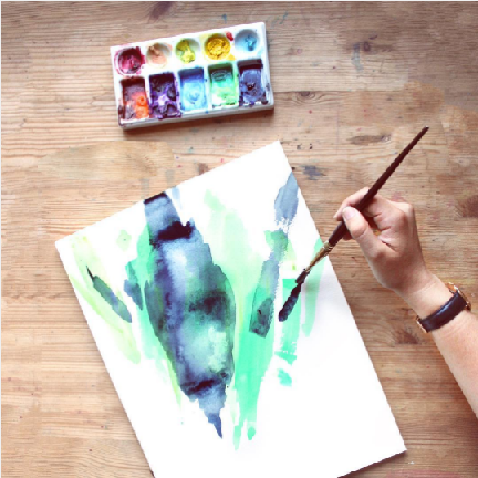 VIRTUAL WORKSHOP: Modern Abstract Watercolor Painting