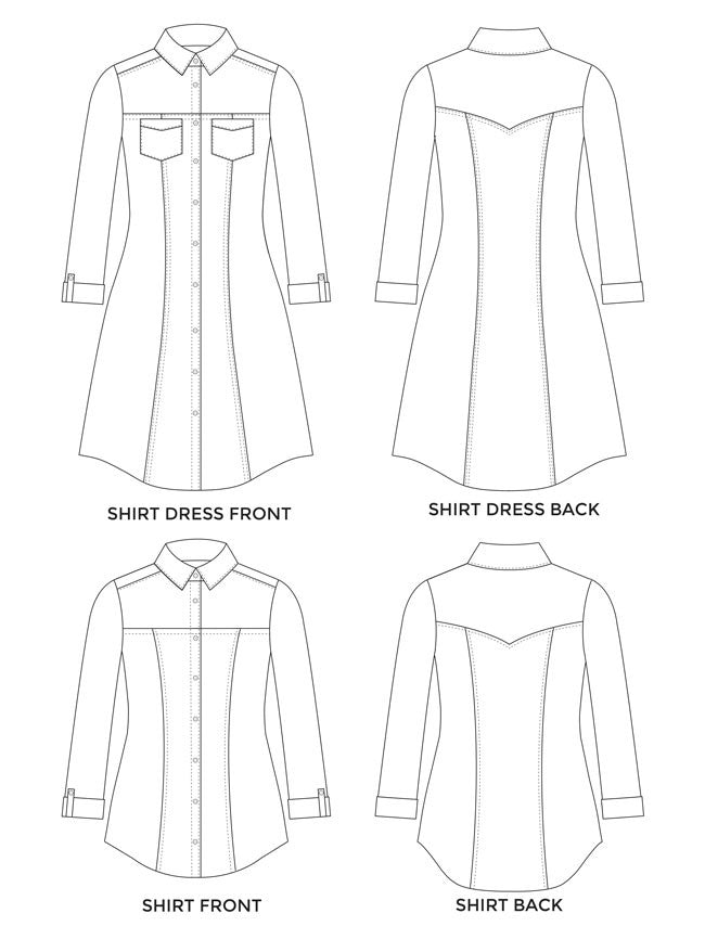 Rosa Shirt Shirtdress Pattern Brooklyn Craft Company Unique Dress Shirt Patterns