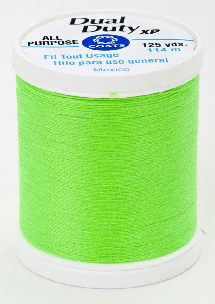 Dual Duty XP All Purpose Thread #9265 Neon Green