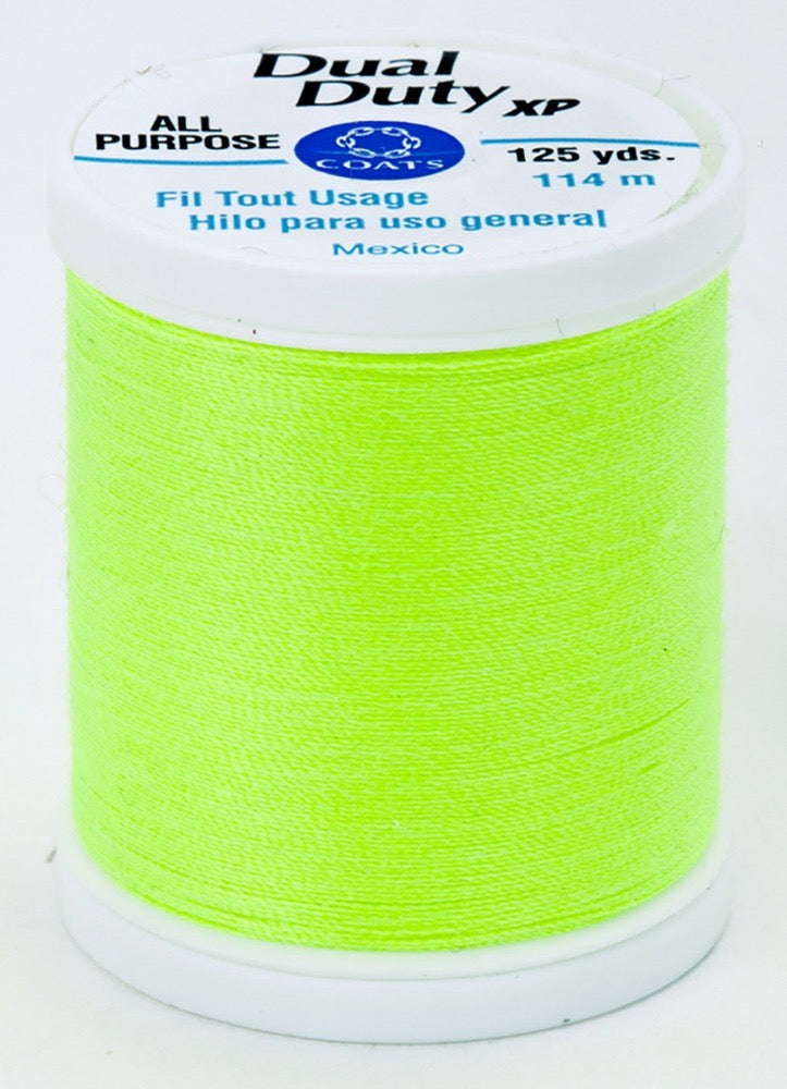 Dual Duty XP All Purpose Thread #9271 Neon Bright Yellow