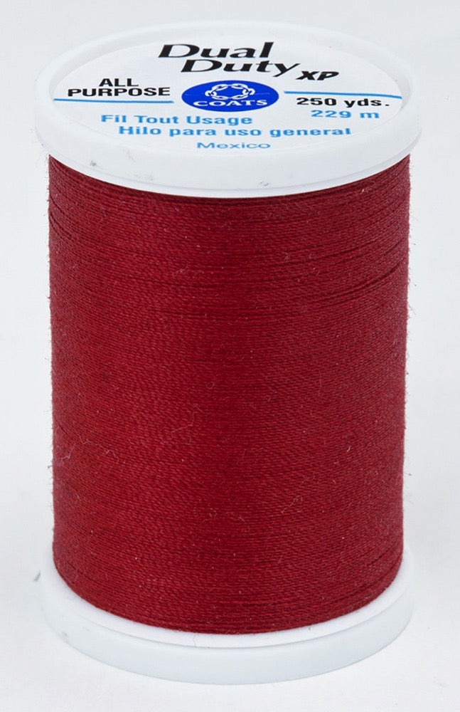 Dual Duty XP All Purpose Thread #2680 Red Cherry