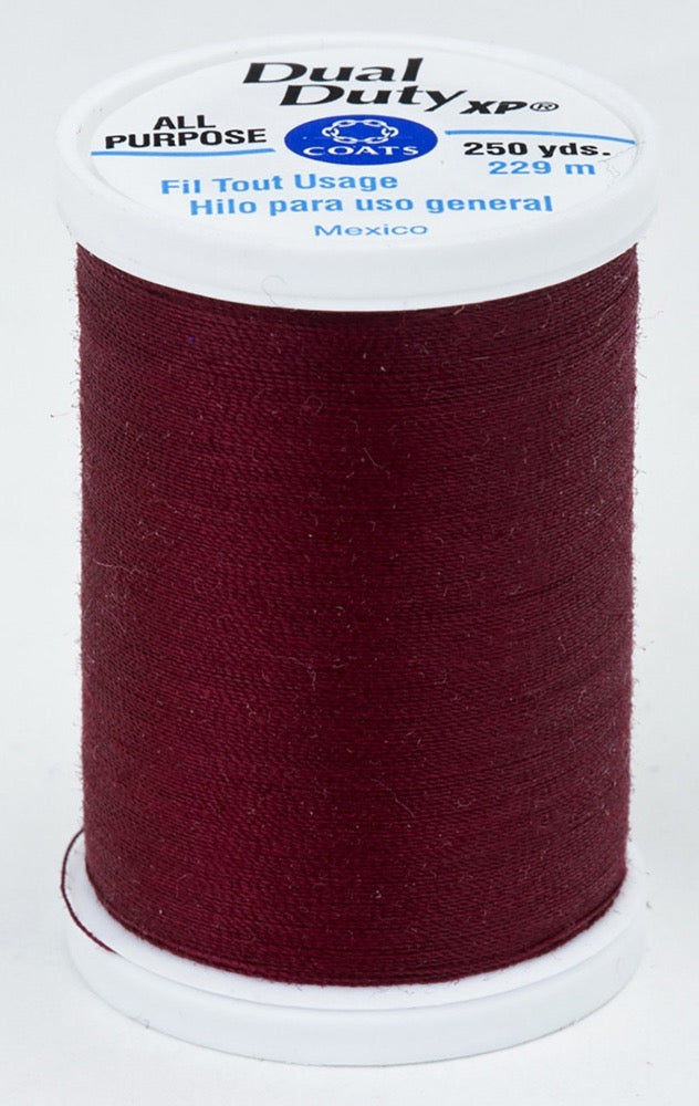 Dual Duty XP All Purpose Thread #2900 Dark Red