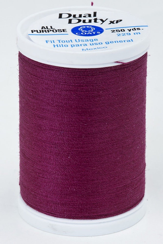 Dual Duty XP All Purpose Thread #3090 Red Plum