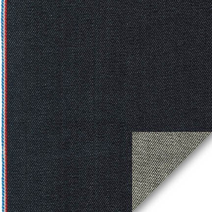 Selvedge Denim by Robert Kaufman in Denim