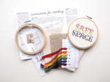Safe Space Cross Stitch Kit