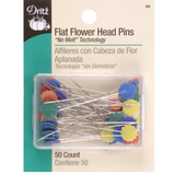 Flat Flower Head Pins - 50/Pkg