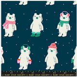 Flurry Snow Bears by Ruby Star Society in Peacock