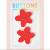Red Orange XL Flower Buttons