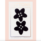 Black XL Flower Buttons