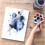 Modern Abstract Watercolor Painting