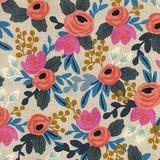 Les Fleurs Rosa Floral by Cotton + Steel in Natural Canvas
