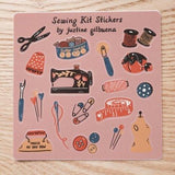 sewing kit sticker sheet