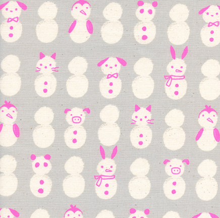 Noel Snow Babies by Cotton + Steel in Neon