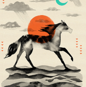 Santa Fe Sunrise by Cotton & Steel in Red