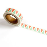 Mint + Coral Triangle Washi Tape