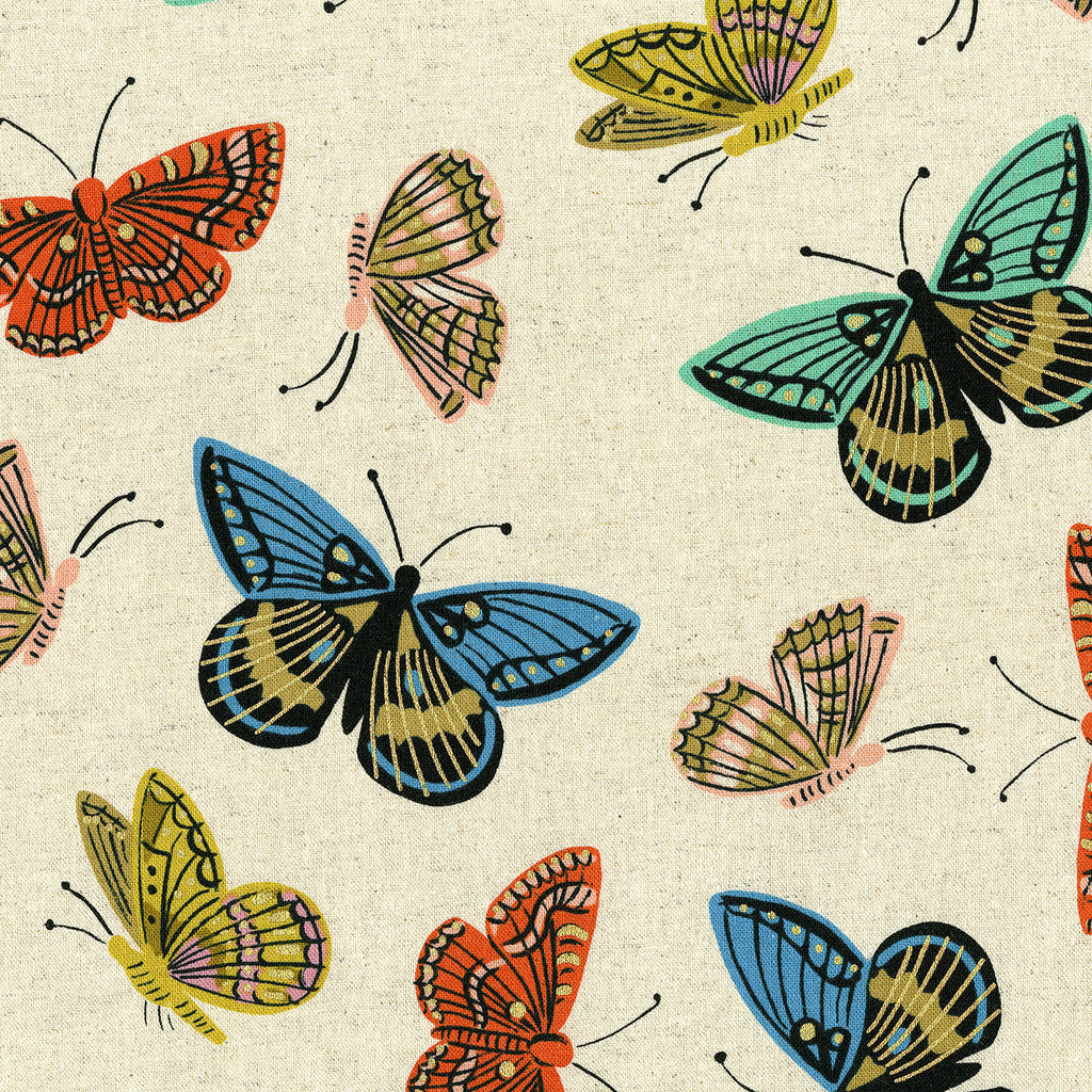 English Garden - Monarch by Cotton + Steel in Canvas Metallic