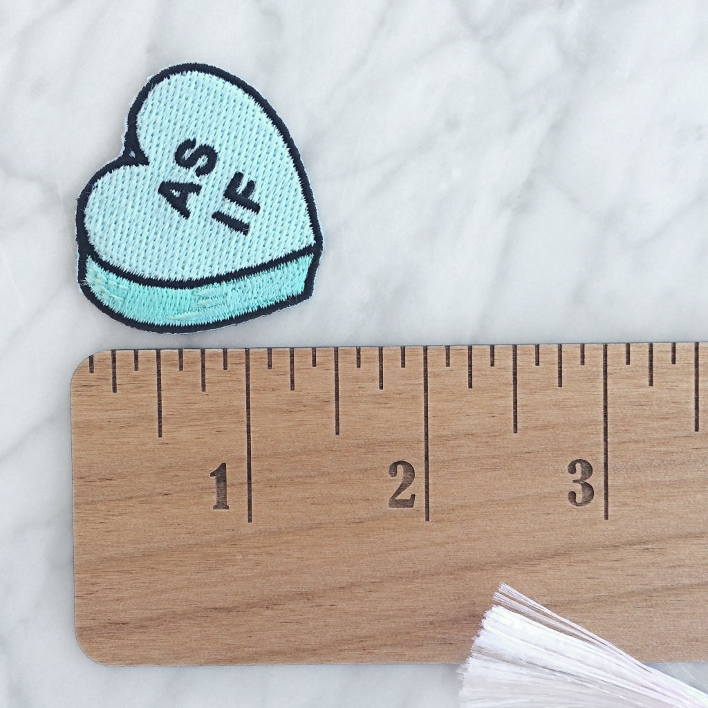"""As If"" Conversation Heart Patch"