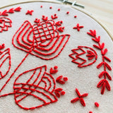 Tulips in Symmetry Embroidery Kit