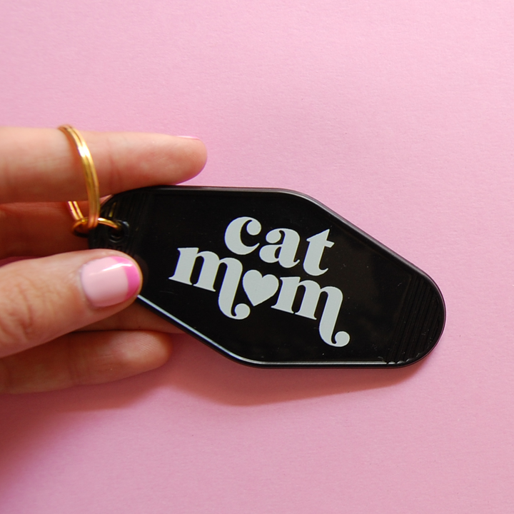 Cat Mom Keychain