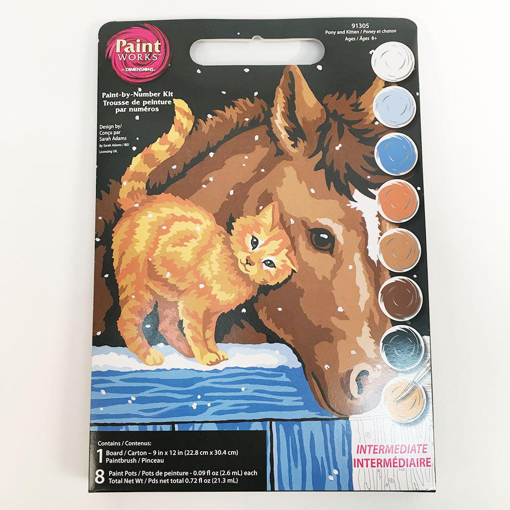 Pony & Kitten Paint By Number