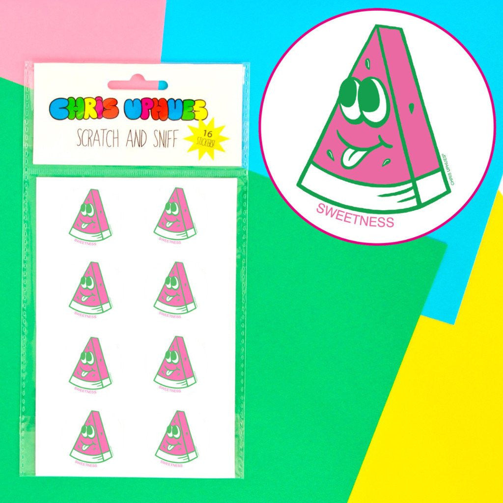 Scratch + Sniff Sticker Set: Sweet Watermelon