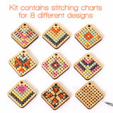 Cross Stitch Earring Kit: Diamond