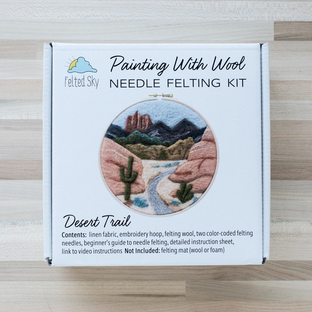 Desert Trail Needle Felting Kit