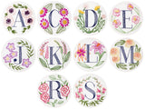 Floral Monogram Embroidery Kit