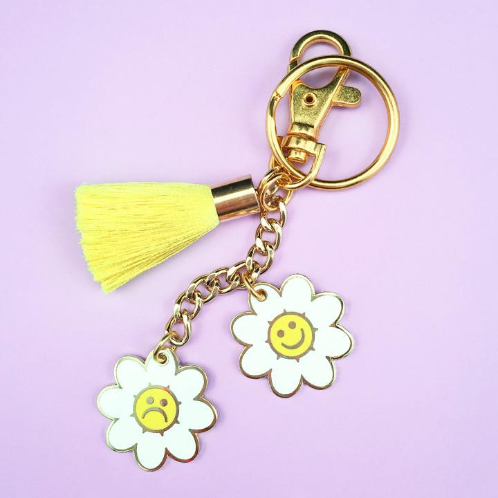 Flower Power Rainbow Keychain