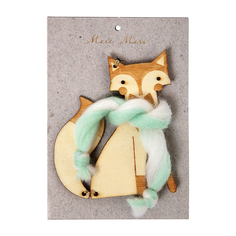 Wooden Fox Tree Ornament
