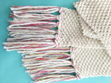 FREE! Epic Fringe Scarf Knitting Pattern