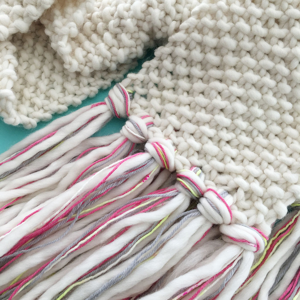 FREE! Epic Fringe Scarf Knitting Pattern – Brooklyn Craft Company