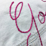 Embroidered Lettering Workshop