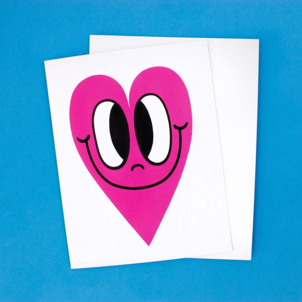 Pink Happy Heart Card